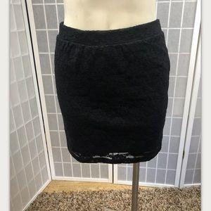 Forever 21, skirt, black, lace, formal, size L.: